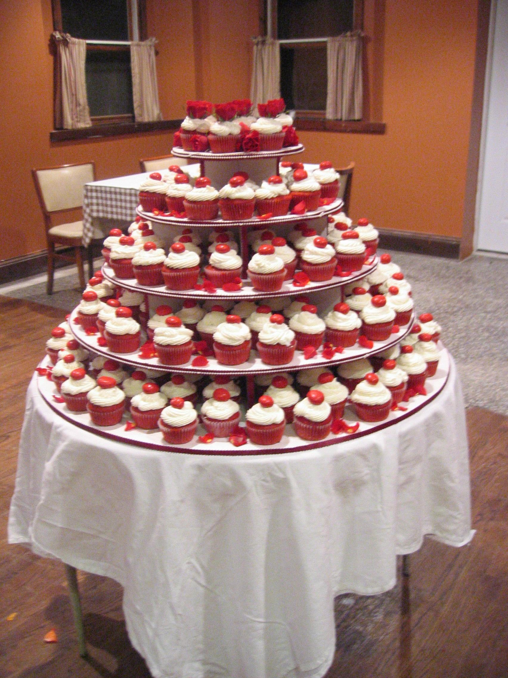 Red Velvet Cupcakes Wedding Viewing Gallery